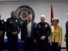 Sgt Nicholas Newman, Lt Vincent Lewis, Lt Dale Ward, Lt Daniel Lane, Mayor Kim McMillan, and Chief Al Ansley. (CPD)