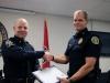 Lt Daniel Lane receives his certificate
