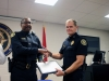 Lt Vincent Lewis receives his certificate