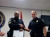 Sgt Nicholas Newman receives his certificate