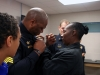 Sgt Nicholas Newman receives his Sergeant Badge was pinned on by CPD's District 3 CI Sergeant Cheryl Anderson