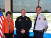 (L-R) Clarksville Mayor Kim McMillan, Sgt. Beau Skinner and Clarksville Police Chief Al Ansley.