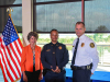 (L-R) Clarksville Mayor Kim McMillan, Lt. Liane Wilson and Clarksville Police Chief Al Ansley.