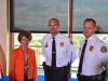 (L-R) Clarksville Mayor Kim McMillan, Capt. David Crockarell and Clarksville Police Chief Al Ansley.