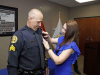 Clarksville Police Department promotes K-9 Officer Joseph Scruggs. (Jim Knoll, CPD)