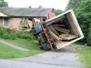 Building supply truck being righted. (Photo by CPD-Jim Knoll)