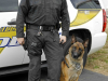 Clarksville Officer Casey Stanton and K9 Vader