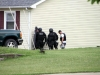 Clarksville Police negotiate Abdujuan Napper out of a residence. (Photo by CPD-Jim Knoll)