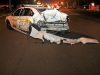 Clarksville DUI Special Patrol Car rear ended on Fort Campbell Boulevard by a drunk driver in a Chevrolet Impala. (Photo by CPD-Jim Knoll)