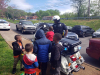 Clarksville Police Officers bring candy and easter eggs to an Easter Egg Hunt at Valley Brook Park.