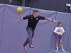"""Clarksville Police take part in """"Hop with a Cop"""" at Planet 3 Extreme Air Park Clarksville."""