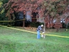 Clarksville Police officer investigating the scene of the shooting. (Photo by CPD-Jim Knoll)