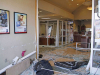 A pickup truck crashed into the front doors of F&M Bank on Madison Street today. (Jim Knoll, CPD)