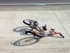 The bicycle that collided with the Ford F-150 on Fort Campbell Boulevard Tuesday Morning.