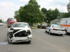2009 Dodge Charger collides with a Mitsubishi at the intersection of Cunningham Lane and Bevard Road Monday, April 20th. (Photo by CPD-Jim Knoll)