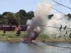 """Clarksville Fire and Rescue put out the fire on the houseboat named """"Dream Catcher""""."""