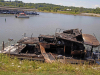 """Houseboat named """"Dream Catcher"""" caught fire at the Clarksville Marina."""