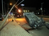 2002 Honda Civic that filpped over on College Street Wednesday morning. (Photo by CPD-Jim Knoll)