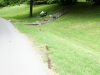 Path the Yamaha Motorcycle took when it went off the road into a yard on Swift Drive. (Photo by Jim Knoll-CPD)
