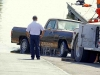 1983 Dodge Pickup being pulled out of the water at Liberty Park's Freedom Point.