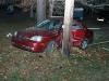 2005 Suzuki Firenza was being driven on Ringgold Road when it left the road and stuck a utility pole.