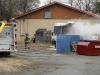 Clarksville Police respond to RV Fire on Kraft Street