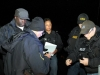 Clarksville Police Department\'s Tactical Team planning their entry into the residence.