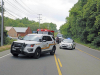 Clarksville Police work a single car accident with fatality on Ashland City Road.