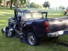 Early in the morning on May 15th, 2017 a Chevy Silverado pickup pulled out in front of a box truck on Cumberland Drive. The crash caused both vehicle to leave the roadway. (Jim Knoll, CPD)