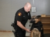 Clarksville Police Service dog getting his K-9 armor put on. (Photo by CPD-Jim Knoll)