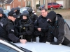 Sgt Joel Gibbons, Tactical Unit Commander, briefing Captain David Crockarell and Tactical Unit Members. (Photo by CPD-Jim Knoll)