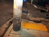 The Utility pole that was hit by a 1988 Chevrolet S-10 Thursday night. (Photo by CPD-Jim Knoll)