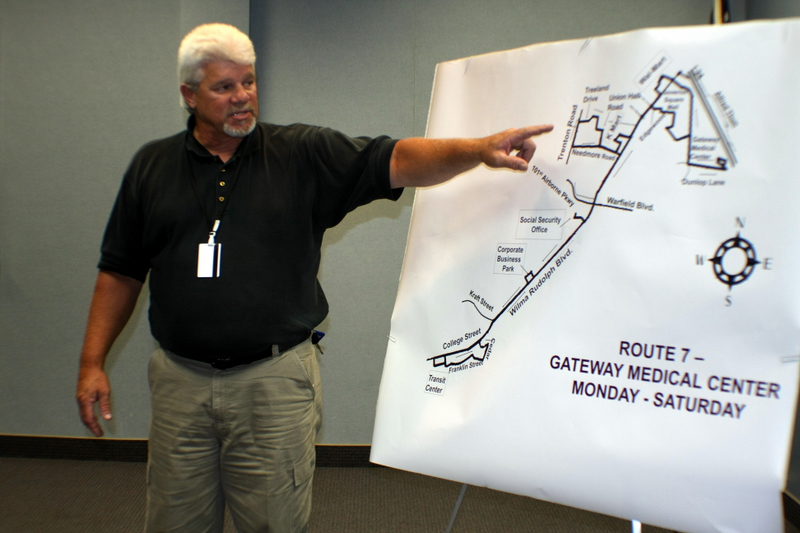 Smith explains new Gateway Medical Center bus route