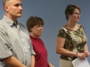 Concerned public transportation advocates listen as Smith speaks