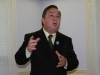 Kenneth Eaton addresses meeting