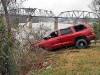 The Dodge Durango being pulled up from the river bank. (Photo by CPD-Jim Knoll)