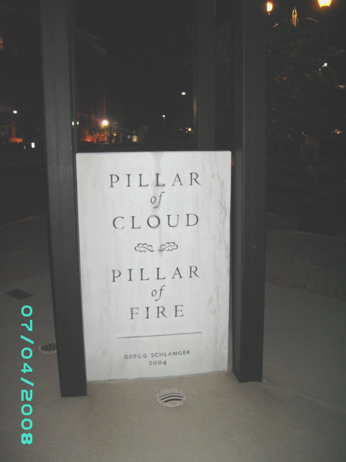 The Pillar of Clouds, Pillar of Fire Memorial