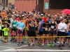 Runners gather at the starting line for the Inaugural Bubba Johnson Memorial 5K Road Race.