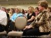 Montgomery County Mayor Carolyn Bowers listens to Conrad Ricketts