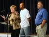 Montgomery County Mayor Carolyn Bowers addresses the crowd