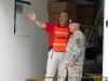 The incident commander Patrick Crane discussing the training exercise with the Garrison Commander Colonel  Frederick W. Swope