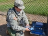 Pvt. Emily Hale, a water purification specialist with the 129th Combat Sustainment Support Battalion, 101st Airborne Division Sustainment Brigade, 101st Airborne Division (Air Assault), conducts a test on water that was purified through the tactical water purification system to ensure it's ready for distribution to Soldiers Sept. 3, 2015, at the Joint Readiness Training Center's Intermediate Staging Base in Alexandria, Louisiana. (Sgt. 1st Class Mary Rose Mittlesteadt, 101st Airborne Division Sustainment Brigade (Lifeliners) Public Affairs)