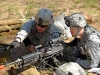 U.S. Army 1st Lt. Thomas A. Reece, a platoon leader for Company E, 2nd Battalion, 506th Infantry Regiment, 4th Brigade Combat Team, 101st Airborne Division, prepares to engage a simulated enemy opposition force with the M240B medium machine gun during the Reconnaissance Lane portion of the Expert Infantryman Badge testing, March 5th, 2012, at Fort Campbell, KY. (Photo by Staff Sgt. Todd Christopherson)