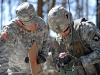 U.S. Army 1st Lt. Andrew D. Sivanich, the executive officer for Company E, 2nd Battalion, 506th Infantry Regiment, 4th Brigade Combat Team, 101st Airborne Division, conducts the 'filling' of a radio task portion of the Expert Infantryman Badge testing on March 5th, 2012 at Fort Campbell, KY. The Expert Infantryman Badge testing consists of 37 tasks that include the Army Physical Fitness Test, land navigation, individual's weapon qualification, 30 individual soldier tasks and a 12-mile foot march. (Photo by Staff Sgt. Todd Christopherson)