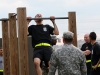 Spc. Isaiah Morales, a MP in the 163rd Military Police Detachment, 716th Military Police Battalion, 101st Sustainment Brigade, 101st Airborne Division (Air Assault), does pull-ups in the Hero Challenge portion of the Peacekeeper Challenge Oct. 4, at Fort Campbell, Ky. The Peacekeeper Challenge was an opportunity for the battalion to come together and honor fallen Soldiers in a rigorous physical competition. (U.S. Army photo by Sgt. Leejay Lockhart, 101st Sustainment Brigade Public Affairs)