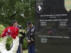 The 716th Military Police Battalion, 101st sustainment Brigade, 101st Airborne Division, bow their heads in a moment of silence for their fallen brothers and sisters at a Memorial Day ceremony at the Don F. Pratt Memorial Museum's memorial park on Fort Campbell, Ky. May 21, 2015. (Sgt. 1st Class Mary Rose Mittlesteadt, 101st Sustainment Brigade, 101st Airborne Division (Air Assault) Public Affairs)