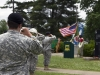A bugler with the 716th Military Police Battalion, 101st sustainment Brigade, 101st Airborne Division, plays Taps at a Memorial Day ceremony at the Don F. Pratt Memorial Museum's memorial park on Fort Campbell, Ky. May 21, 2015. (Sgt. 1st Class Mary Rose Mittlesteadt, 101st Sustainment Brigade, 101st Airborne Division (Air Assault) Public Affairs)