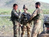 With the assistance of an interpreter, Lt. Col. Scott W Kirkpatrick, commander of 2nd Battalion, 506th Infantry Regiment, 4th Brigade Combat Team, 101st Airborne Division, discuss details with a member of the Afghan National Army's 2nd Kandak, 1st Brigade, 203rd Corps during a mission in Khowst Province, Afghanistan, on June 2, 2013. (Photo by Sgt. Justin A. Moeller, 4th Brigade Combat Team Public Affairs)