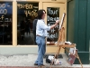 An artist painting street scenes