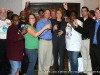 The Obama & Barnes campaign workers raise a toast to victory